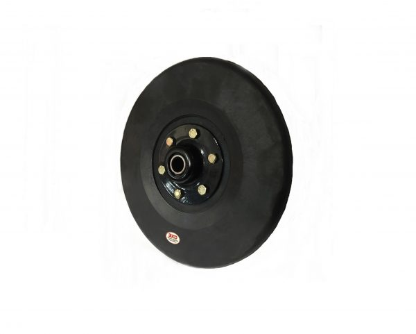 """Buco Press Wheel Complete with solid round profile 1"""" x 9.5"""" - Firming wheel"""