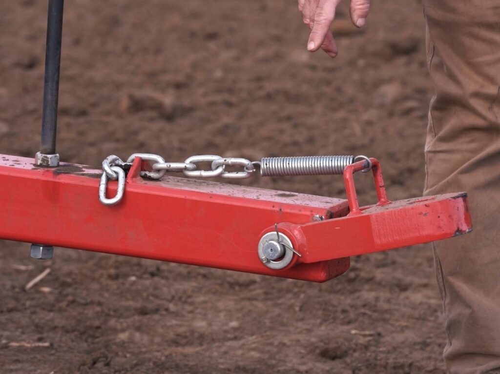 ECO standard drawbar tongue with spring & chain assembly