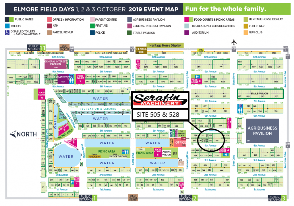 Elmore Field Days Site Map