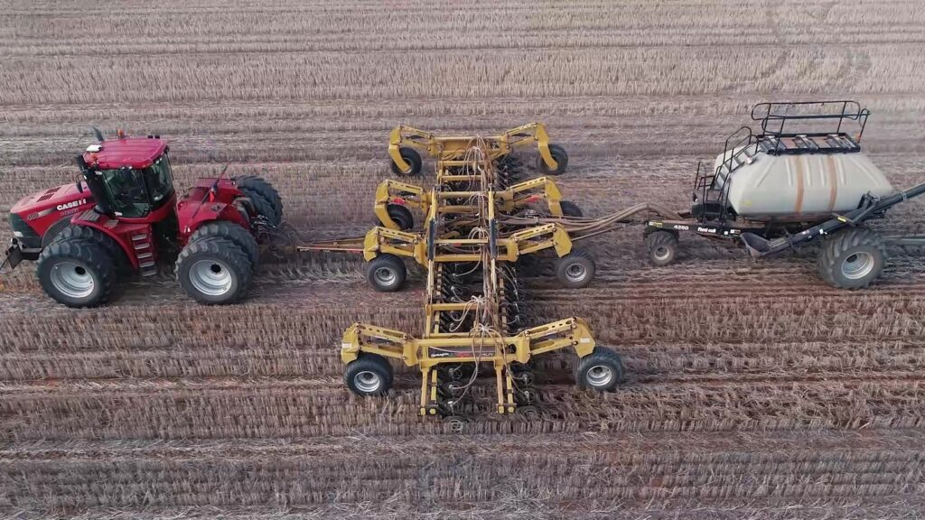 Serafin UltiSow S15 Hi Lift Aerial Shot from directly side on