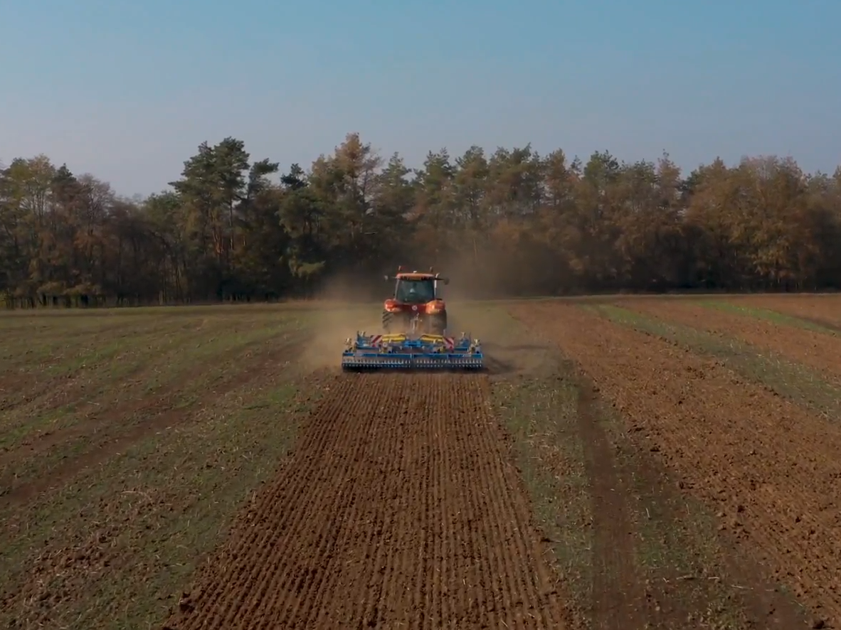 Farmet Triton Speed Disc Cultivator working from behind