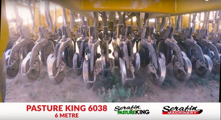 Serafin PastureKing Double Disc Seeder